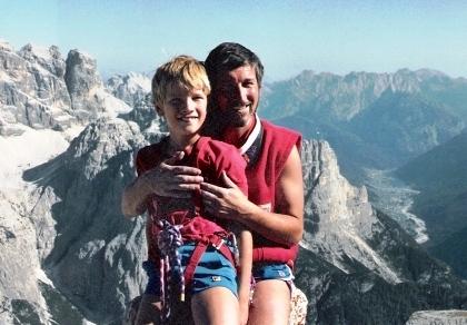 Gianni_e_Giuseppe_Pais_Becher_nel_1986_in_cima_alla_Piccola